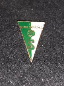 Odznak TJ Sokol Svéradice, okres Klatovy
