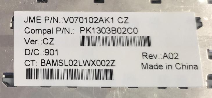Klávesnice V070102AK1 z HP Compaq 2510p vadná - Notebooky, příslušenství