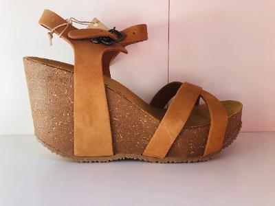 Nové pohodlné sandály, vel. 39, Bio Natura kůže