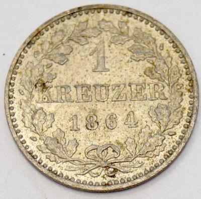 Stará mince - Frankfurt, 1864, 1. krejcar (6510)