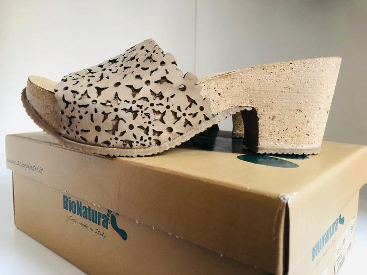 Nové pohodlné pantofle, vel. 39, Bio Natura kůže - Dámské boty
