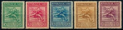 Kuba 1930 , **/Mi. 74-8 , komplet ,  Sport , /N1/