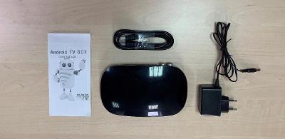 Android DVB STB Box VISION s ovladačem, černá barva
