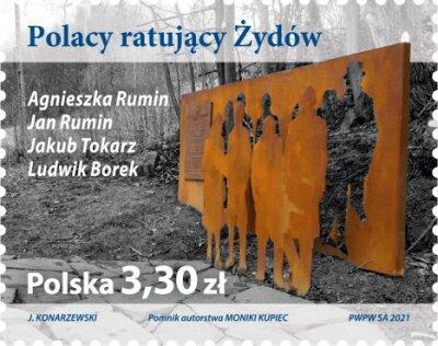 Polsko 2021 Známky ** Židi Druhá světová válka Poláci zachraňující Žid