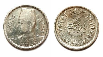 Egypt 2 Qirsh 1937 Ag!