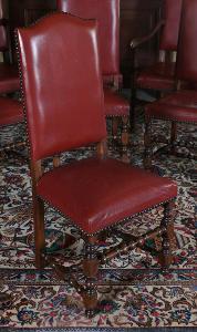 Dubový komplet křesel a židlí pro 6 osob