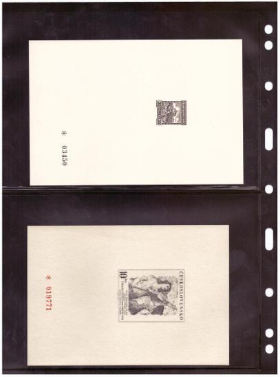 ČSSR - PT 1-25 - KOMPLETNÍ SBÍRKA ČERNOTISKŮ, VŠE NASKENOVÁNO (S1861) - Filatelie