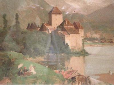 Hrad u jezera - Loir Luigi - Obraz  na chalupu !!!