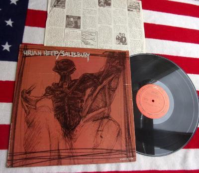 💥 LP: URIAH HEEP - SALISBURY, 1.vyd. USA, US verze jiná než Evropska