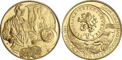 Au+Ag 100.výročie začatia razby československých mincí (2021)