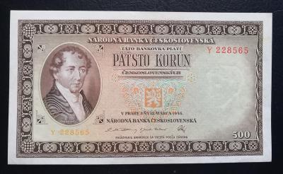 500 korun 1946,neperforovana serie Y
