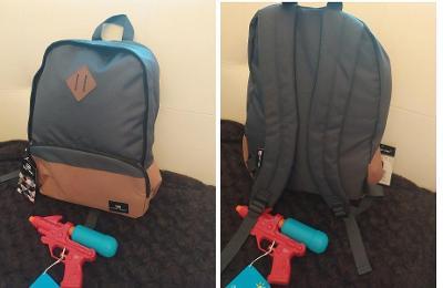 Batoh Target, polstrovaná záda s dárečkem vodní pistolkou