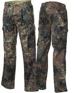 Vojenské kalhoty BW flecktarn nové