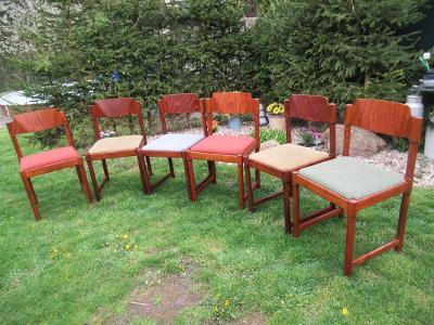 Retro židle Brusel styl 6 ks
