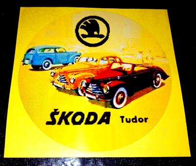 ŠKODA Tudor (bílá samolepka pr.7-1x)