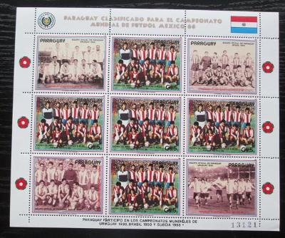 Paraguay 1986 MS ve fotbale Mi# 3983 Bogen Kat 24€ 2365