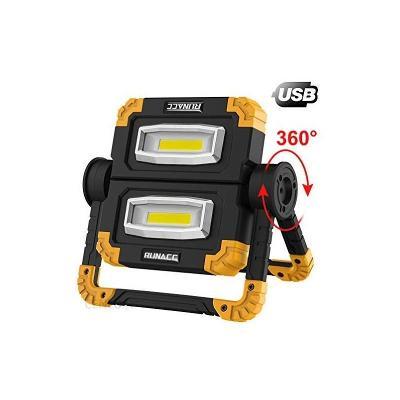Skládací pracovní LED reflektor Runacc, černo-žlutá