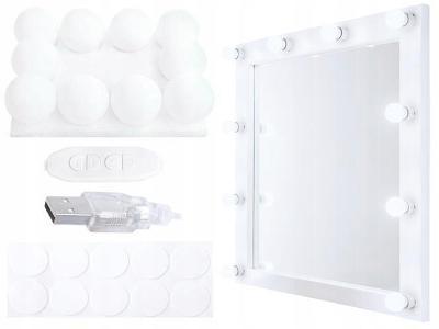Led světla na zrcadlo k toaletnímu stolku 10 ks 0209