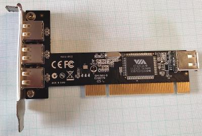 Řadič USB VT6212L PCI  4x USB 2.0
