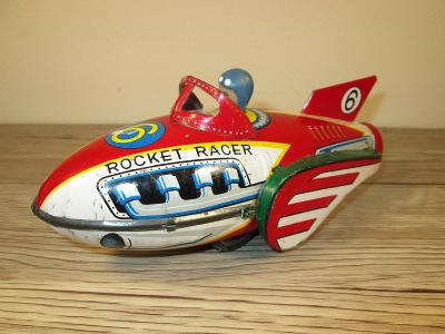 1950'S MS 735 MADE IN CHINA FRICTION TIN ROCKET RACER (T8)
