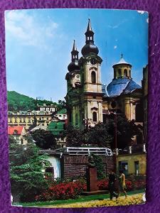Pohlednice KARLOVY VARY kostel Marx