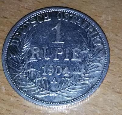 1 Rupie, Německá Východní Afrika, Vilém II., 1904