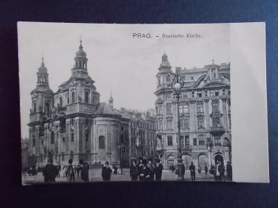 Praha Prag Ruský kostel živá lidé dlouhá adresa