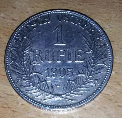 1 Rupie, Německá Východní Afrika, Vilém II., 1905