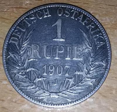 1 Rupie, Německá Východní Afrika, Vilém II., 1907