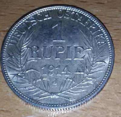 1 Rupie, Německá Východní Afrika, Vilém II., 1914