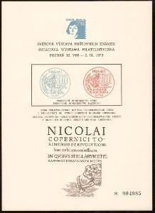 PAMĚTNÍ LIST SVĚTOVÁ VÝSTAVA ZNÁMEK POZNAŇ, 1973 (S1874)