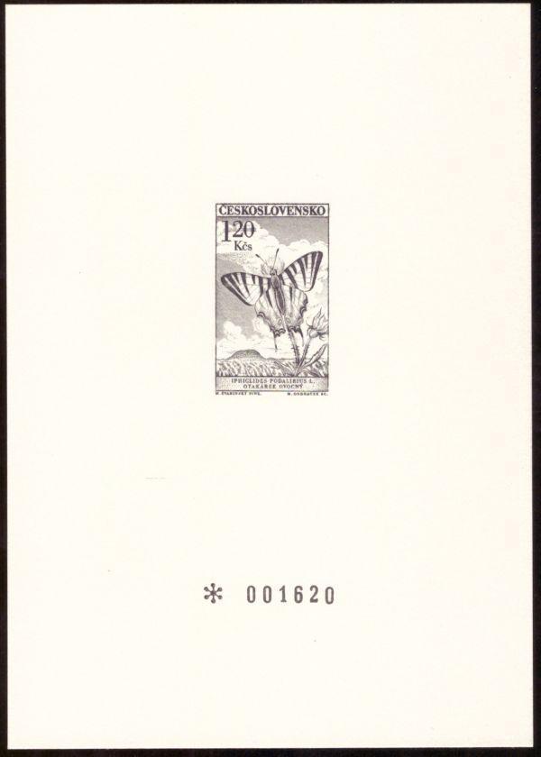 RYTINA OTAKÁREK OVOCNÝ - PŘÍLOHA MONOGRAFIE MOTÝLI 1961 (S1925) - Filatelie