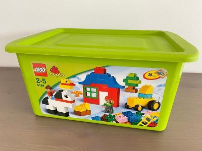 Lego Duplo 5488 - Set kostek s boxem - Velká stavba farmy s boxem