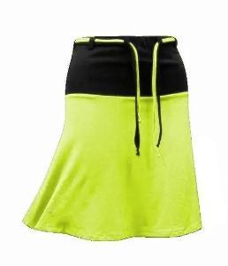 Lehká, bavlněná minisukně černo-zelená 3XL. - 5460.
