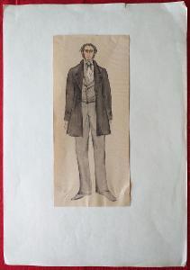 Dva  kostýmní  návrhy  -   neurčený  autor