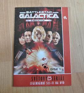 Original DVD s pilotním dílem Battlestar Galactica (AJ / ČJ)