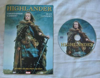 DVD s kultovním filmem Highlander (Lambert, Connery)