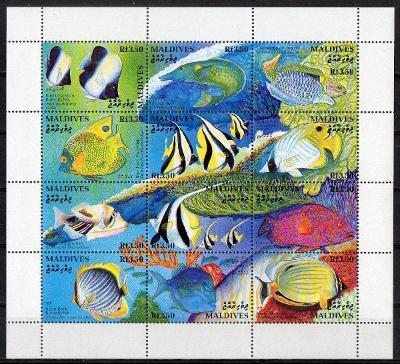 Maledivy-Korálové ryby 1993**  Mi.Klb.1909-1920 / 11 €