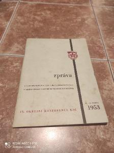 Zpráva o činnosti komunistické strany  v okrese Přerov 1953