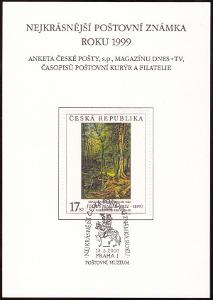 POF. AČP 6 - ANKETA ČESKÉ POŠTY O NEJKRÁSNĚJŠÍ ZNÁMKU 1999 (S1927)