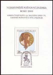 POF. AČP 7 - ANKETA ČESKÉ POŠTY O NEJKRÁSNĚJŠÍ ZNÁMKU 2000 (S1928)