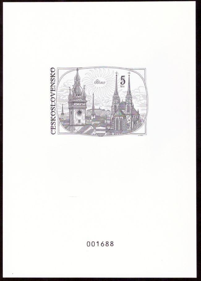 ČR - PŘÍLEŽITOSTNÝ TISK, OCELORYTINA BRNO 5 KČS (S1966) - Filatelie