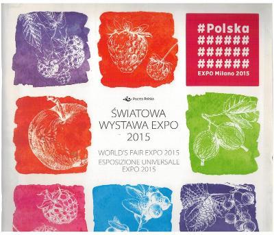 Polsko 2015 Prezentační balíček Známky aršík ovoce Expo Milán Itálie