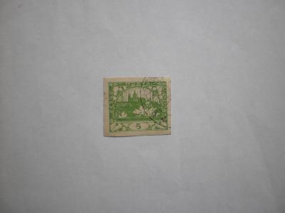 ČSR I - Hradčany - ražená známka - nezoubkovaná -viz obr