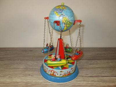 OLD TOY GLOBE CAROUSEL MADE IN WEST GERMANY (T33)