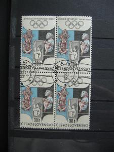 čtyřblok 1671 - XIX. letní OH Mexiko 1968 - popis - H-3