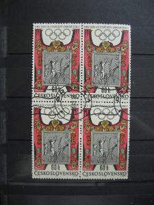 čtyřblok 1673 - XIX. letní OH Mexiko 1968 - popis - H-3