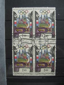 čtyřblok 1676 - XIX. letní OH Mexiko 1968 - popis - H-3