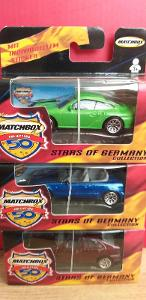 12 x MATCHBOX STARS OF GERMANY ´´ MERCEDES, PORSCHE, VW TRANSPORTER´´