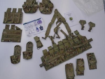 Orig US Army MOLLEII Tactical Assault Panel Multicam nový + přísluš.